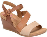 Softspots Comfortiva by Leather Wedge Sandals -Violet