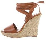 Diane von Furstenberg Leather Wedges Sandals