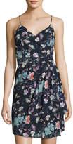 Dex Faux-Wrap Floral-Print Dress