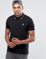 Asos Pique Polo Shirt With Tipped Collar And Logo In Black