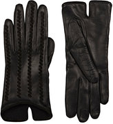 Barneys New York Women's Whipstitched Leather Gloves-BLACK