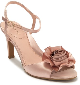 Taryn Rose Jacklyn Crystal Rosette Satin Stiletto