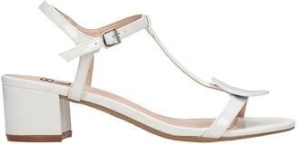 Bibi Lou Sandals In White Patent Leather