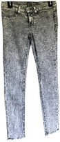 J Brand Grey Cotton Trousers for Women