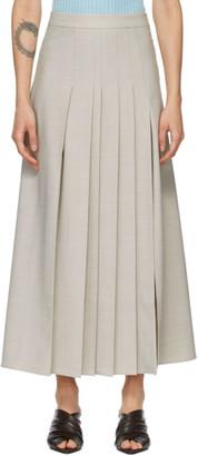 ANNA QUAN Grey Sable Skirt