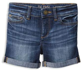 DL1961 Girls' Piper Cuffed Denim Shorts - Little Kid