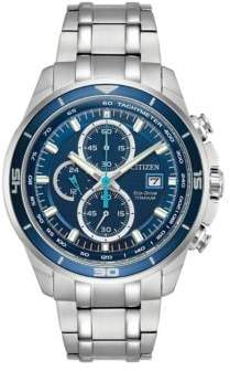 Citizen Ti+IP Eco-Drive Analog Stainless Steel Watch