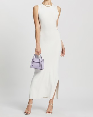 Dazie - Women's White Maxi dresses - Backstage Knit Maxi Dress - Size S at The Iconic