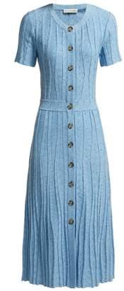 Altuzarra Abelia Knitted Pleated Midi Dress - Womens - Blue