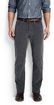 Lands' End Men's Regular Fit 14-wale Corduroy Pants-Dark Indigo Wash