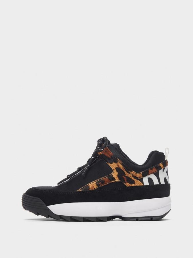 Dani Leopard Lace Up Sneaker by Dani Leopard Lace Up Sneaker