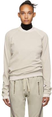 Haider Ackermann Off-White Velour Freeman Sweatshirt