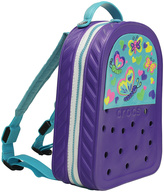 Jibbitz Neon Purple & Aqua Busy Butterfly CrocsLights Backpack