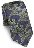 Ike Behar Paisley Printed Silk Tie