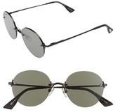 Le Specs Women's 'Bodoozle' 49Mm Round Sunglasses - Gold