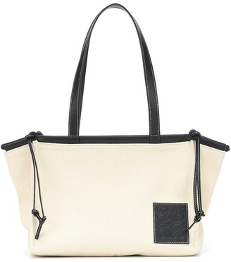 Loewe Cushion Small canvas tote