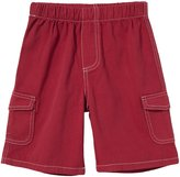 City Threads Soft Twill Cargo Short w/Gray Stitch - Red-9 - 12 Months
