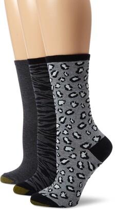 Gold Toe Women's Animal Print 3 Pair Fashion Pack Dress Socks