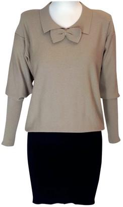 Sonia Rykiel Beige Wool Dress for Women Vintage