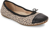 Old Soles Kids Girls) Leopard Print Electric Ballet Flats
