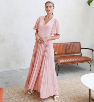 Jovonna London Pink Elektra Flowy Dress - extra small