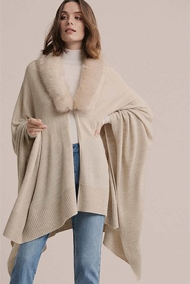 Witchery Luxe Fur Knit Wrap