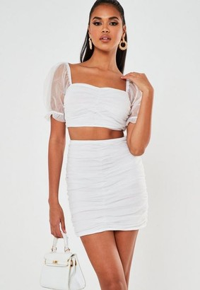 Missguided Co Ord Tulle Ruched Mini Skirt