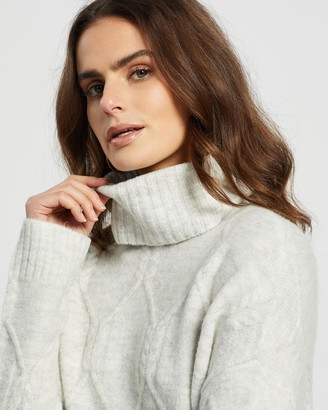 Only Linella LS High Neck Pullover Knit