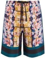 Meng Floral-print Silk Pyjama Shorts