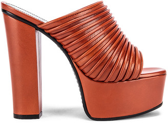 Givenchy Platform Mule Sandals in Dark Orange | FWRD