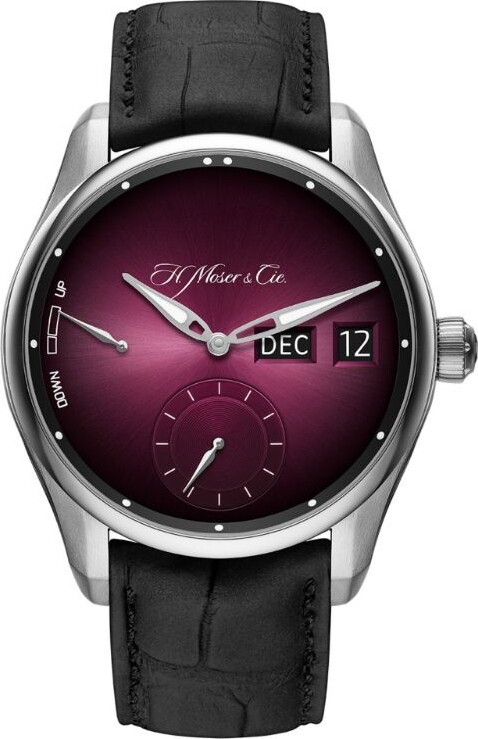 Thumbnail for your product : H. Moser & Cie Stainless Steel Pioneer Perpetual Calendar MD Watch 42.8mm