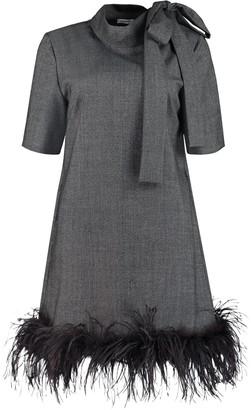 P.A.R.O.S.H. Pussy-bow Collar Dress