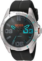 BOSS ORANGE Men's Quartz Stainless Steel and Resin Automatic Watch, Color: Grey (Model: 1513380)