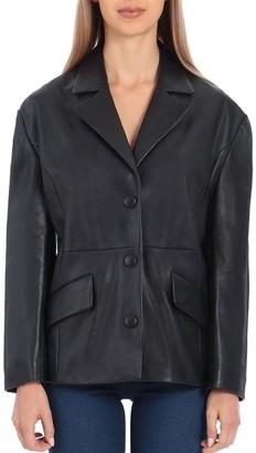 Badgley Mischka Women's Leather Blazer
