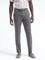 Banana Republic Slim Windowpane Linen Pant