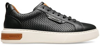 Bally Woven Leather Low-Top Sneakers