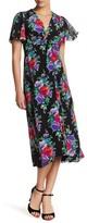 Nanette Lepore In Bloom Silk Midi Dress