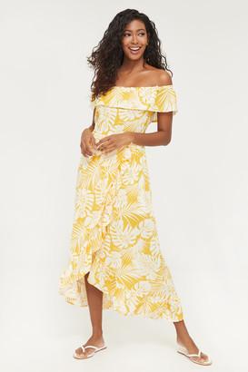 Ardene Off Shoulder High-Low Midi Dress