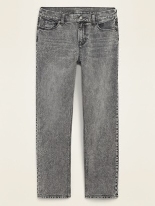 Old Navy Mid-Rise Boyfriend Straight Gray Jeans for Women