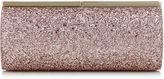 Jimmy Choo TRINKET Tea Rose Metallic Coarse Glitter Fabric Clutch Bag