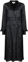 Temperley London crystal-embellished flared dress