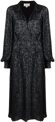 Temperley London Crystal-Embellished Flared Dress