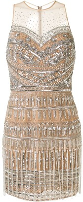 ZUHAIR MURAD Embellished Tulle Mini Dress