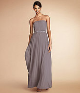 Donna Morgan Bridesmaid Strapless Chiffon Gown