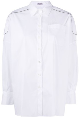 Brunello Cucinelli Monii-Inset Shoulder Shirt