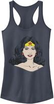 Licensed Character Juniors' DC Comics Wonder Woman Face Portrait Tank Top