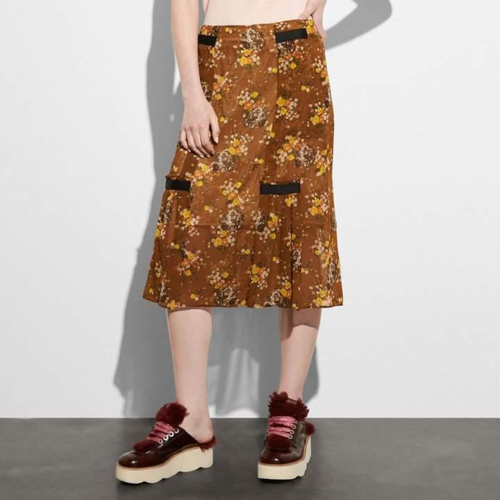 Coach Prairie Dog Rose Skirt