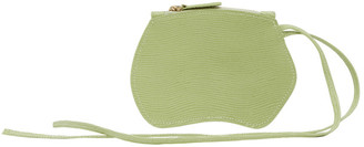 Little Liffner Green Lizard Mini Pebble Pouch