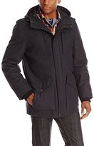 Tommy Hilfiger Men's Melton Wool-Blend Full-Length Hooded Jacket
