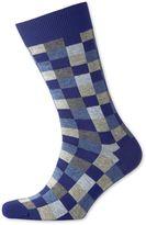 Charles Tyrwhitt Blue Checked Socks Size Medium
